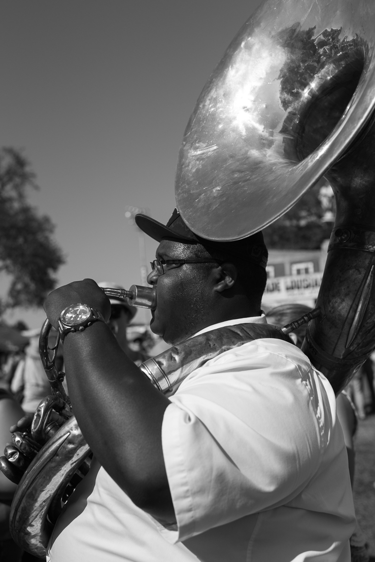 Jazz Fest Brass Band Tuba Player-5781